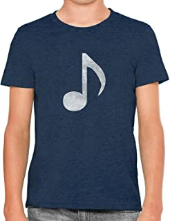Austin Ink Apparel Little White Music Note Soft Kids Unisex Girls Cotton T-Shirt