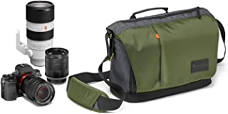 Manfrotto Lifestyle MB MS-M-GR Clever Street Camera Messenger Bag for CSC/DSLR, Top Opening, Khaki
