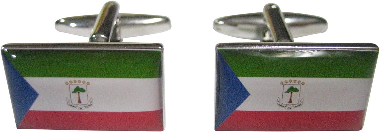 Kiola Designs Republic of Equatorial Guinea Flag Cufflinks
