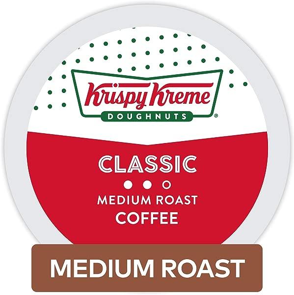 Krispy Kreme Doughnuts Classic Single Serve Coffee K Cup Pods For Keurig Brewers Medium Roast 32Count