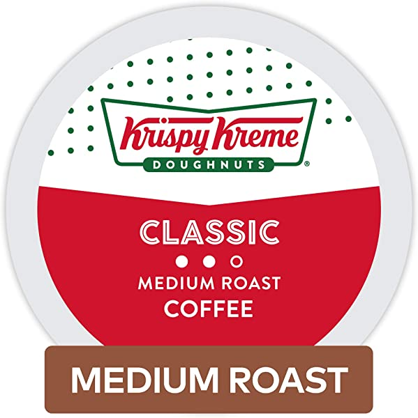 Krispy Kreme Doughnuts Classic Single Serve Coffee K Cup Pods For Keurig Brewers Medium Roast 32Count