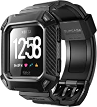 SupCase Watch Bands for Fitbit Versa & Fitbit Versa Lite, [Unicorn Beetle Pro] Protective Replacement Wristband Case Band for Fitbit Versa (Black)