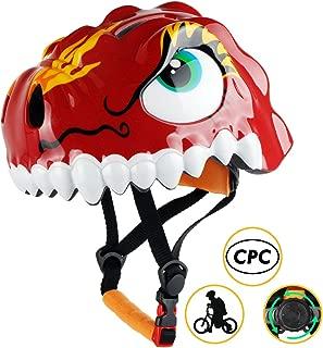 Shinmax Kids Bike Helmet, 3D Cartoon Toddler Helmet CPC&CE Certified Children Multi-Sport Infant Safety Helmet Adjustable for Boys/Girls Riding/Cycling Skating Scooter