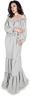 white renaissance gown
