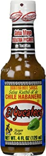 EL YUCATECO SAUCE HABANERO XTRA HOT, 4 OZ (4-Pack)