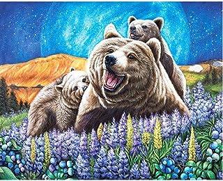 キャンバスアート壁ポスター 動物のクマ 海报 绘画 帆布艺术 室内装饰 壁挂 墙壁海报 HD时尚海报