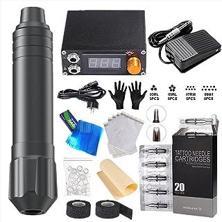 GUIH Tattoo Pen Kit, Professionele Motor Tattoo Pen Set, Volledige Set van Tattoo Machine Tattoo Gun Apparatuur Geschikt v...