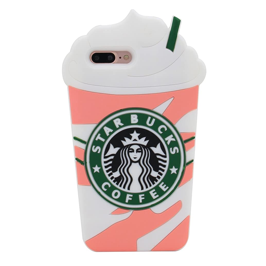 Pink Frappuccinos Starbucks Coffee Cup Case for iPhone 7+ 7Plus 8+ 8Plus Large Size 5.5