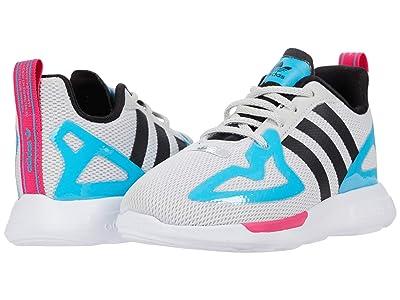 adidas Originals Kids ZX 2K Flux EL I (Toddler) (Grey One/Core Black/Signal Cyan) Boys Shoes
