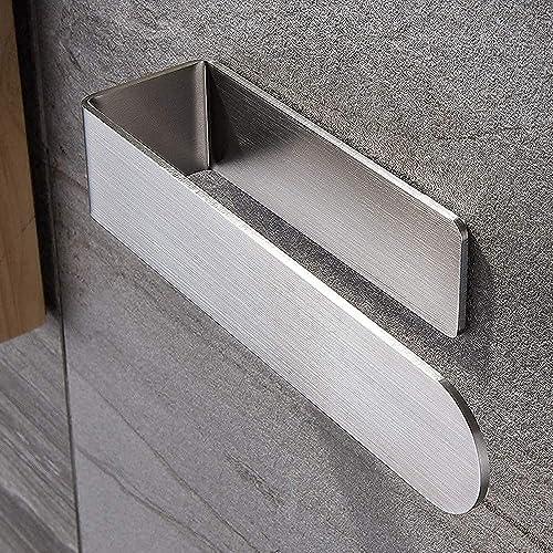 Bathroom Towel Holder, Hand Towel Rack for Bathroom Towel Bar Kitchen Stick on Shelf Ring Self Adhesive Ekvinor Wall ...