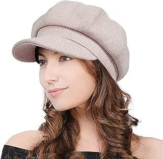 PanPacSight Winter Women Newsboy Cap Visor Ladies Wool Beret Paperboy Wool Octagonal Hat