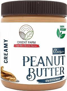 Orient Farm Peanut Butter | CLASSIC | Sweetened Flavour | Creamy | 340gm | 100% Roasted Peanut | Vegan | gluten Free | Swe...