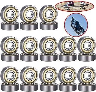 Xinlie Rodamientos de Skate Cojinetes de Patines de Rueda y Longboard 608ZZ-Rodamientos de Bolas Rodamientos de Ranura Profunda en Miniatura para Patines en línea,Scooters,Patines de Rodillos 26Piezas