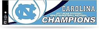 NCAA North Carolina Tar Heels 2017 Men's National Basketball Champions Bumper Sticker, Carolina Blue, White, 11-inch by 3-inch