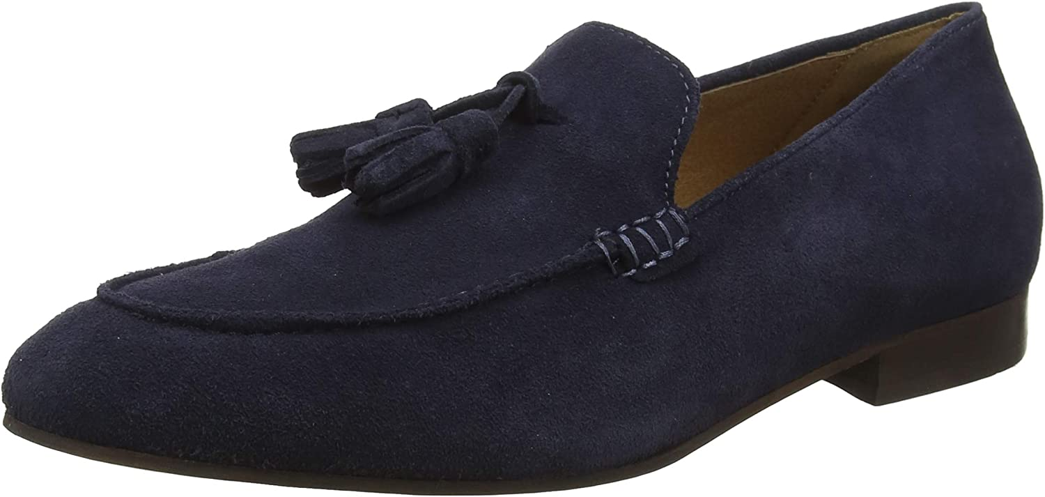 H by Hudson Men's Bolton Suede shoes, bluee
