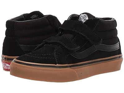 Vans Kids SK8-Mid Reissue V (Little Kid/Big Kid) ((Gumsole) Black/Gum) Boys Shoes