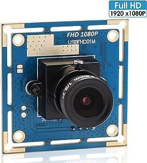 2MP USB Camera 1080P Webcam High Speed VGA 100fps 720P 60fps Webcamera 2 Megapixel USB with Camera with CMOS OV2710 Sensor 3.6mm Industrial Camera Module for PC,ATM,Robot,Mobile Phone,Kiosk (3.6mm)