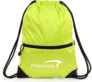 Mintra Sport Rush Front-Logo Zip-Pocket Drawstring Unisex Backpack