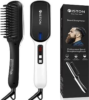 Beard Straightener for Men Ionic hair straightening brush Beard/Hair straightener with Anti-Scald Feature Portable Beard Straightener Comb with LED Display For Home & Travel