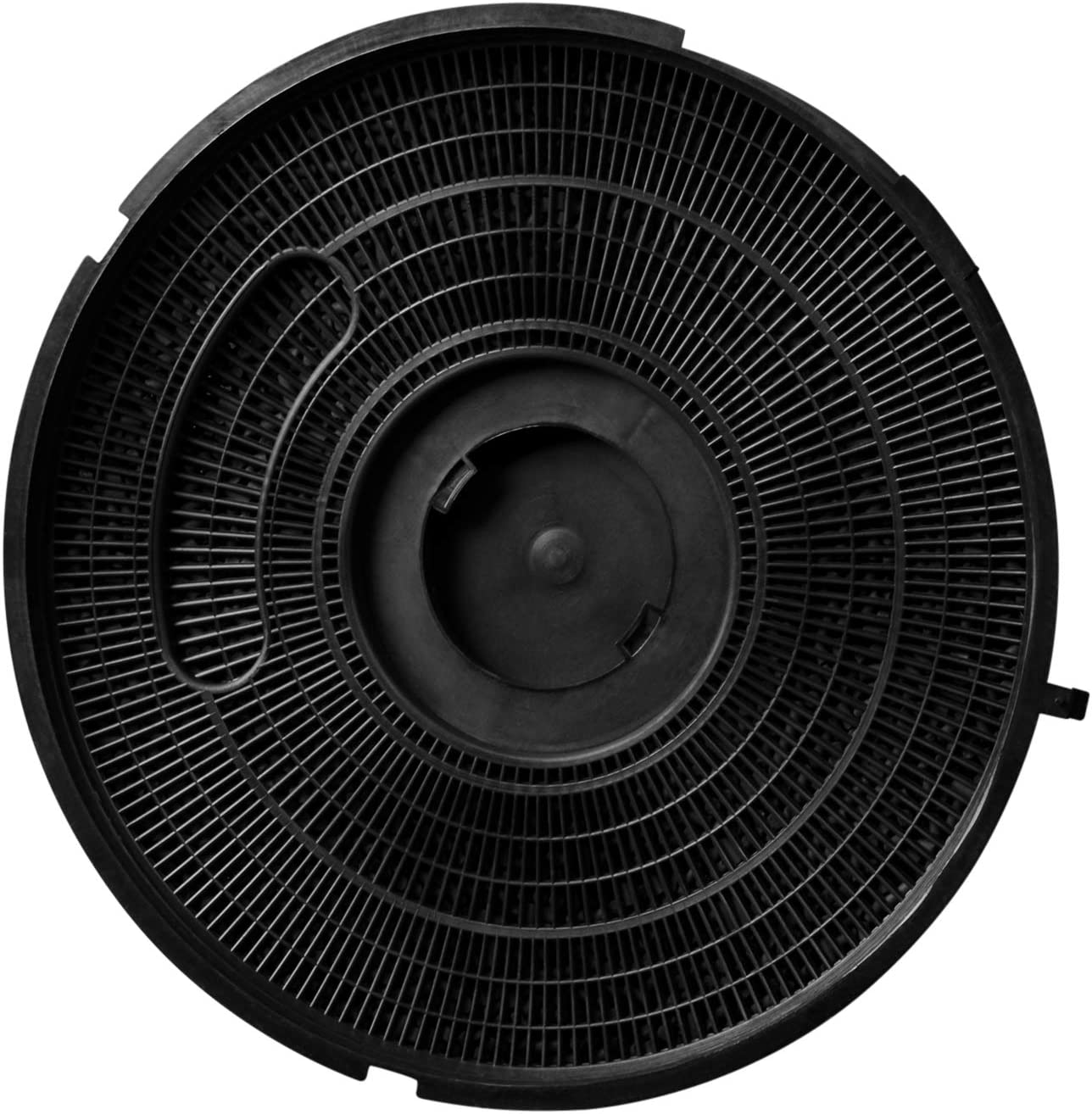 Filtro de carbón tipo 26 como Whirlpool 484000008789 de 280 mm de diámetro Wpro 481281718528 FAC269 Indesit C00385608 C00375086 para campana extractora AEG Bauknecht Elica