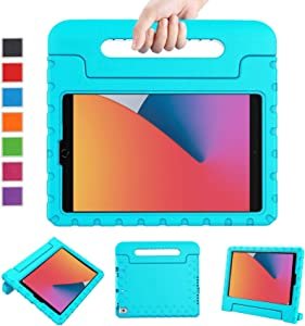 LTROP New iPad 10.2 Case 2020, iPad 8th Generation Case, iPad 10.2 Case for Kids, iPad 7th Generation Case, Light Weight Shock Proof Handle Stand Kids Case for iPad 8th/7th Gen and Air 3, Turquoise