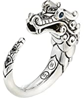 John Hardy - Legends Naga Brushed Ring with Black Sapphire