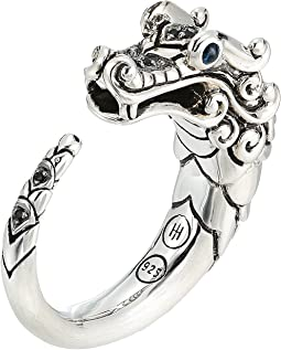 Legends Naga Brushed Ring with Black Sapphire