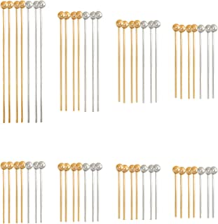 1000pcs 15mm head pin ball pin jewelry making finding headpin ballpin beadpin bead pin gold silver antique bronze color ZE18 4 color option