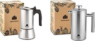 Groenenberg Spar-Pack 6 | Espressobryggare induktion 4 koppar rostfritt stål fransk press rostfritt stål 600 ml | kaffebry...