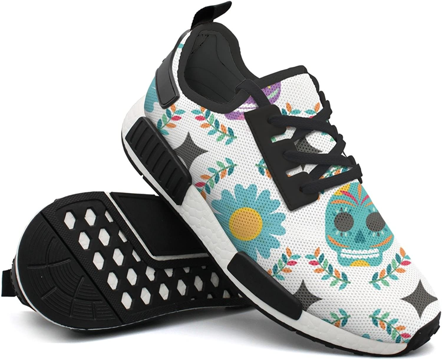 Fashion Sneakers shoes For Men colorful Skull Pattern-01 Retro Lightweight Breathable Mesh Mens Sneaker