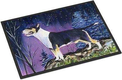 """Caroline's Treasures SS8344MAT Bull Terrier Indoor Outdoor Doormat, 18"""" x 27"""", Multicolor"""