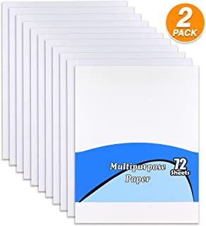 Emraw Multipurpose Paper 8.5 x 11 Inches Copy Paper Letter Size White Paper Perfect for Home use, Office Paper or School (72 Sheets Per Pack) (Pack of 2)