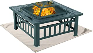 Fire Pit Mat, Grill Mat for Ground, Patio, Deck, Lawn, Outdoor or Campsite Protection Ember Mat Pad