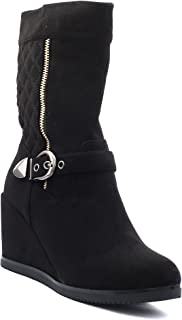 Shuberry Latest Footwear Collection, 8.3 inches Length Comfortable & Fashionable Slouch Boots with Exclusive Stitch Design for Women's & Girl's