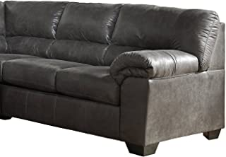 Ashley Furniture Signature Design - Bladen Contemporary Right Arm Facing Loveseat - Sectional Component ONLY - Slate