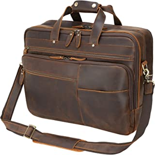 Texbo Large Leather Business Briefcase for Men 18