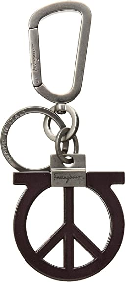 Salvatore Ferragamo Gancio Peace Sign Charm