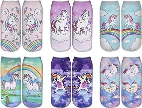 Womens Fun Crazy 3D Print Pattern Dapper Animal Novelty Ankle Socks Value Packs