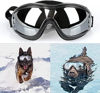 drean dream world中型 大型 犬 用 サングラス メガネ ゴーグル 紫外線 予防 対策 黒