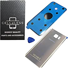CELL4LESS Compatible with The Samsung Galaxy Note 5 Replacement Rear Back Glass Back Cover w/Removal Tool & Pre-Installed Adhesive - Fits N920 Models Any Carrier -Gold