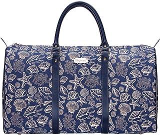 Signare Gobelin-Gepäcktasche für Reisen und Sport/große Reisetasche für Damen Sporttasche Damen mit Farbmuster Designs Muschel