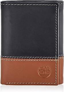 محفظة جلدية ثلاثية الطي للرجال من تيمبرلاند مع جيب شفاف لبطاقة الهوية