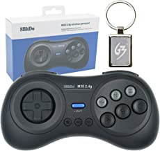 Mcbazel M30 2.4G Wireless Gaming Gamepad Controller for Sega Genesis 1 Mega Drive 1 with Gam3Gear Keychain
