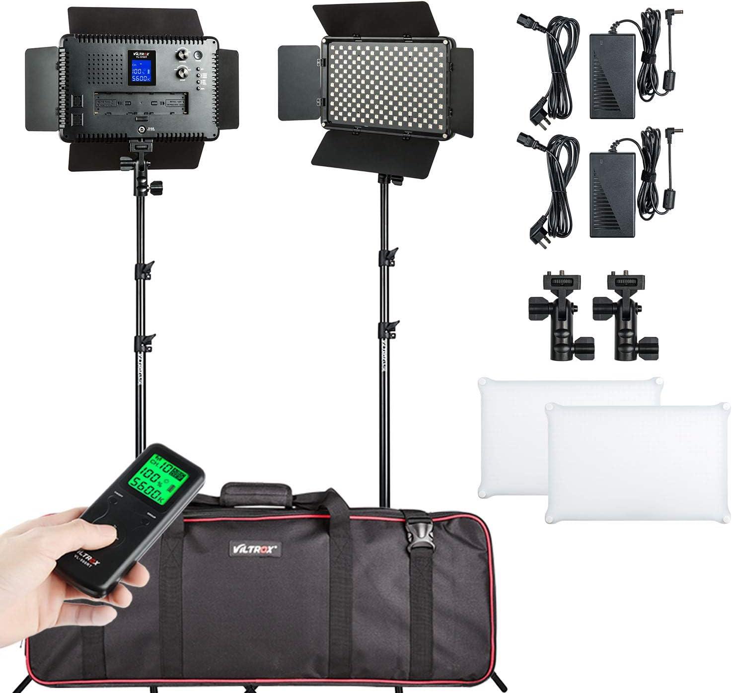 2 Packs Bi-Color LED Video Dimmable VILTORX Camera Light St gift El Paso Mall