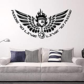 Studio Moll Motorsports Biker Ride to Live Quote Moto Club Riders Wallpaper Motorcycle Collection - Wall Decals Mural Decor Vinyl Z12816