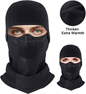 Balaclava Ski Face Mask Fleece Winter Warm Face Cover, Ultimate Windproof Paneling with Breathable Vents for Cold Skiing Motorcycle Snowboard Cycling for Men & Women & Children