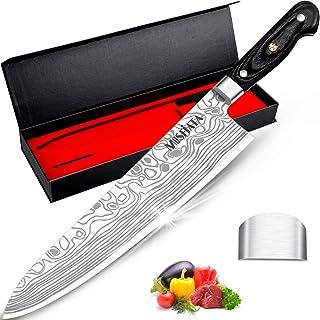 """MOSFiATA 10 """"couteau de chef couteau de cuisine à haute teneur en carbone EN1.4116 couteau en acier inoxydable couteau ple..."""