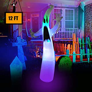12 Ft Inflatable Portable Halloween Terrible Ghost Lanterns Indoor and Outdoor Decoration