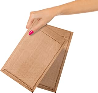 Natural Kraft bubble mailers 25 Pack 6x9 Padded Envelopes 6 x 9 Brown cushion mailers. Kraft paper mailing envelopes with ...