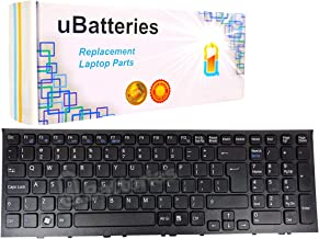 Eathtek Replacement Keyboard for Sony VAIO VGN-NS VGN-NR PCG-7Z2L PCG-7Z1L PCG-7Z1N PCG-7132L PCG-7133L PCG-7141L PCG-7142L PCG-7151L V072078BS1 Series Black US Layout